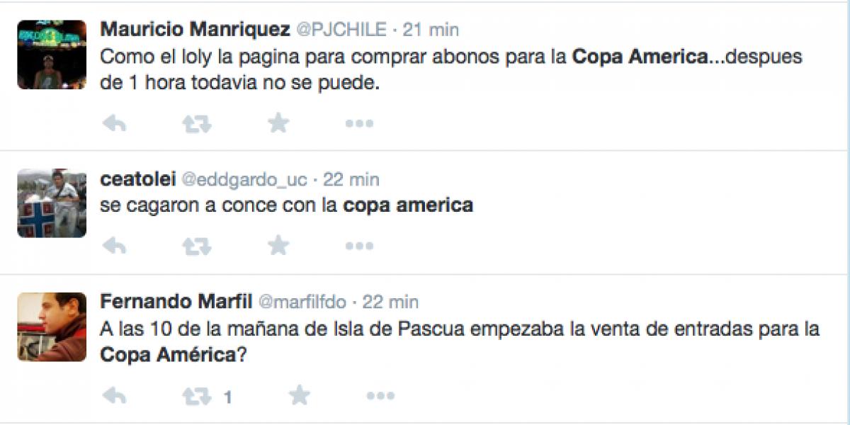 En Twitter criticaron el retraso y problemas en la venta de abonos para Copa América