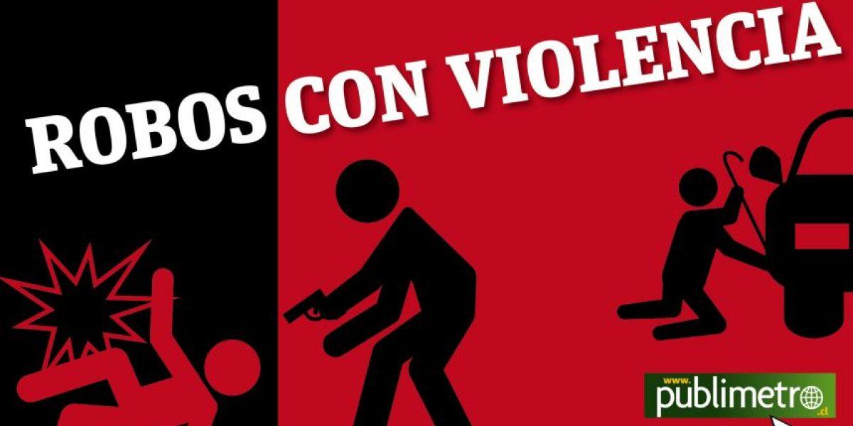 (Infografía) ¿Sabes cuáles son las zonas con más robos con violencia de la Región Metropolitana?