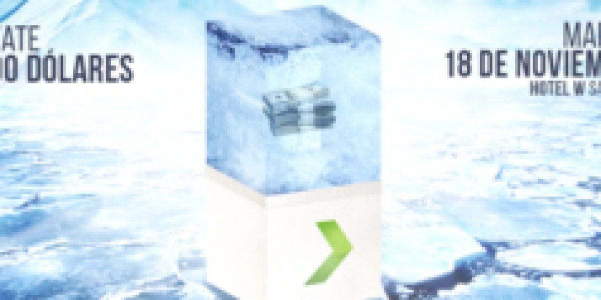 Gánate cinco mil dólares congelados en una tonelada de hielo