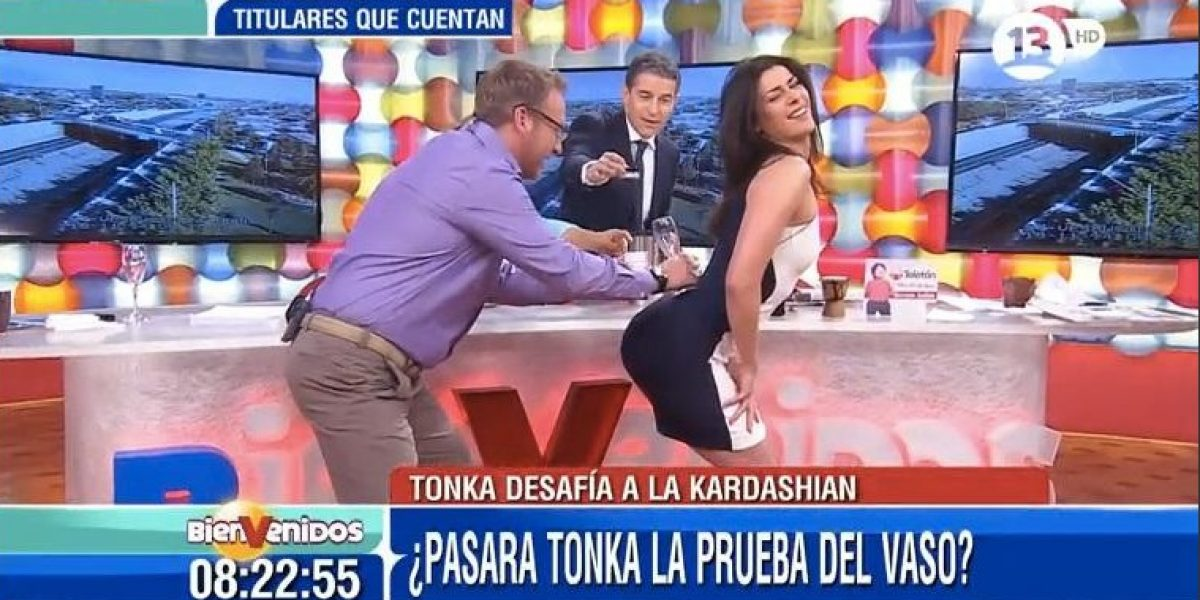 ¡A Tonka se le soltaron las trenzas!: imitó sensual portada de Kim Kardashian