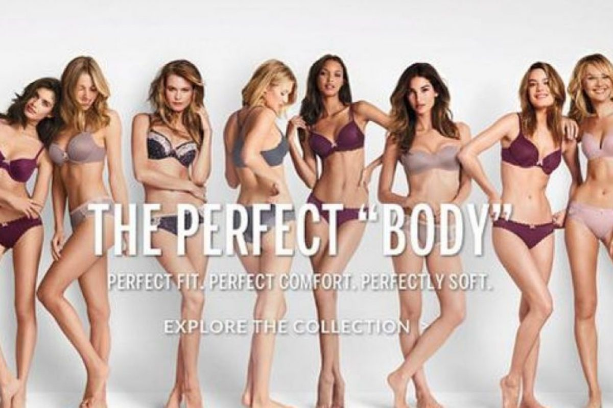 """Victoria´s Secret cometió un error de juicio con su campaña """"El cuerpo perfecto"""" Foto:Victoria´s Secret. Imagen Por:"""