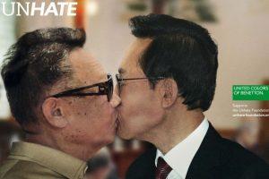 Mostraban a todos los politicos besándose Foto:Benetton. Imagen Por: