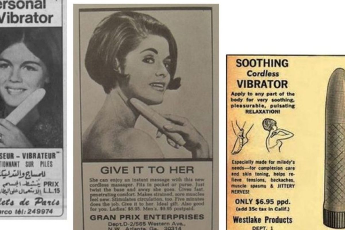 Para los años 60, los vibradores ya eran fálicos. Aunque se promocionaban para otras cosas. Foto:Gurl. Imagen Por: