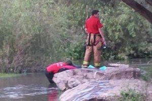 Pamela Hernández cayó al agua y se ahogó Foto:Protección Civil México. Imagen Por: