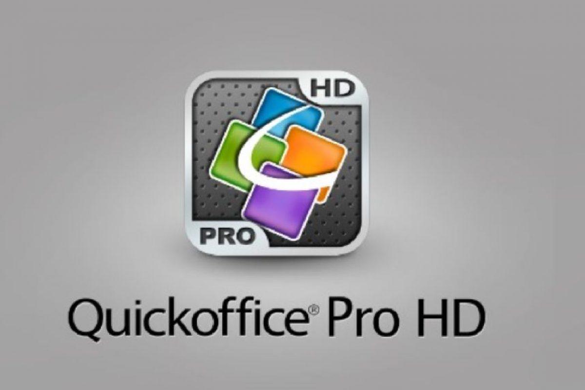 7. Quickoffice Pro HD- Esta aplicación permite crear y editar documentos de Microsoft Office desde su tableta o smartphone. Está disponible tanto para Android como para IOS, aunque es un tanto costosa. Esta herramienta tiene un precio de 20 dólares para uso en tabletas y de 15 dólares para uso en smartphones. Foto:Captura de pantalla. Imagen Por: