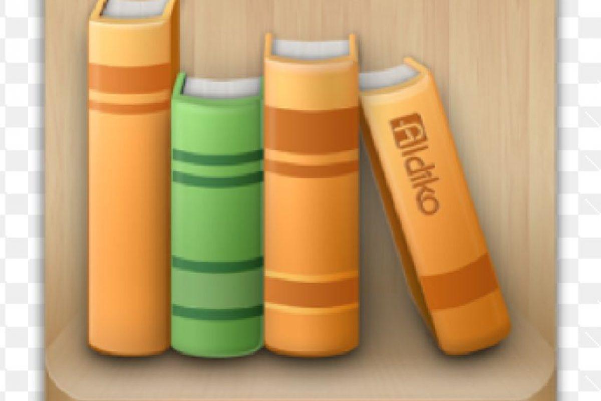8. Aldiko- Es una biblioteca virtual, disponible para Android y para IOS. Esta aplicación permite personalizar la experiencia de lectura al ajustar el tamaño de la fuente, los colores de fondo, entre muchos otros para la conveniencia del usuario. También permite marcar partes del libro que se lee, entre otras funciones. Foto:Captura de pantalla. Imagen Por: