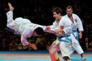 Así se vivió la lucha por el tercer lugar, en el Campeonato Mundial de Karate Foto:AFP. Imagen Por: