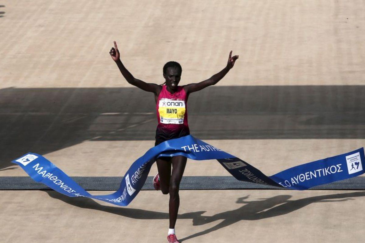 Naomi Jepkogei Maiyo ganó el Maratón de Atenas Foto:AFP. Imagen Por: