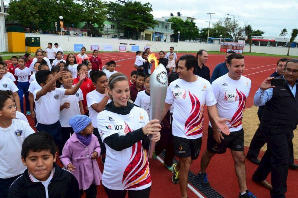 El fuego de los Juegos llegó a la sede Foto:Facebook: JCC Veracruz2014. Imagen Por: