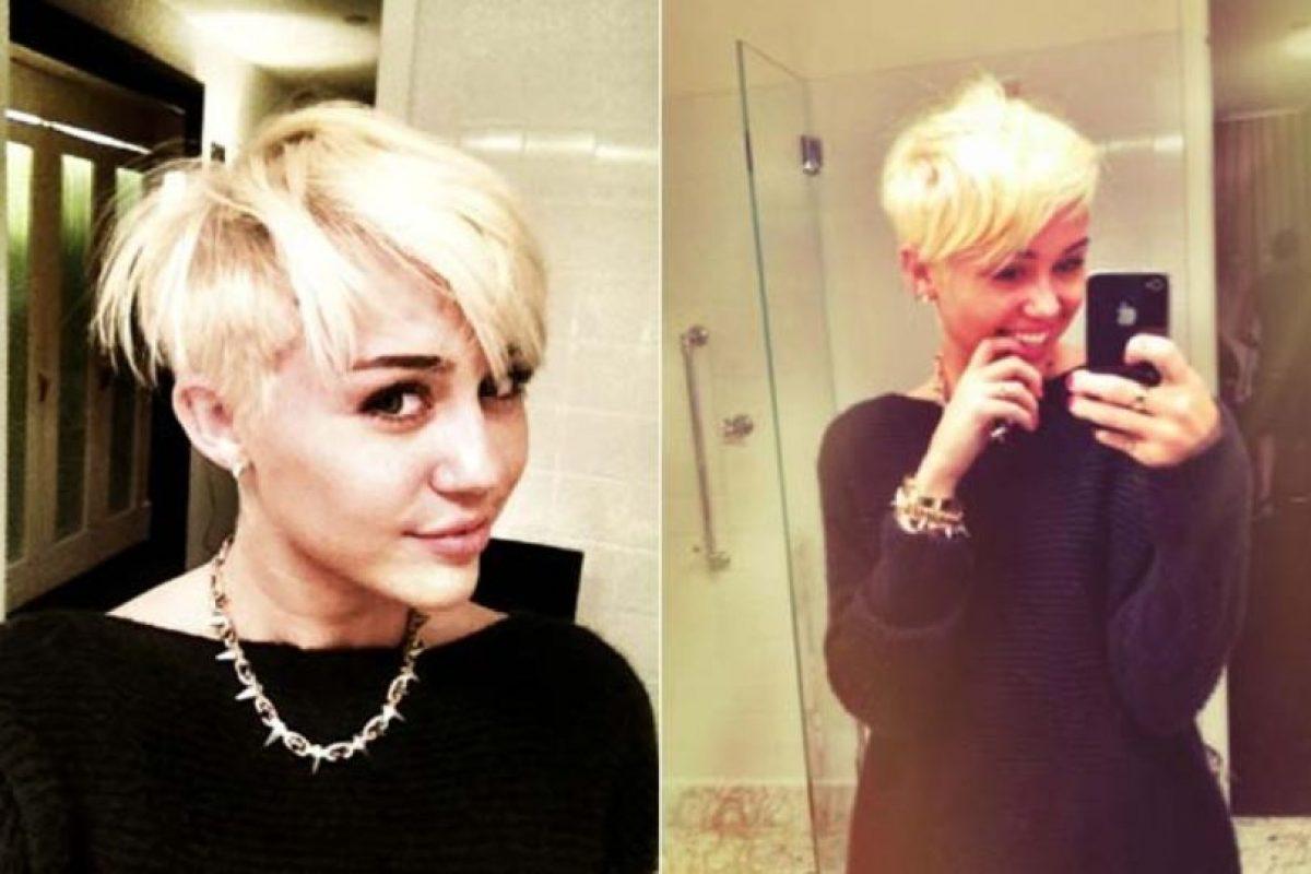 Miley Cyrus cuando se cortó el pelo Foto:Twitter. Imagen Por: