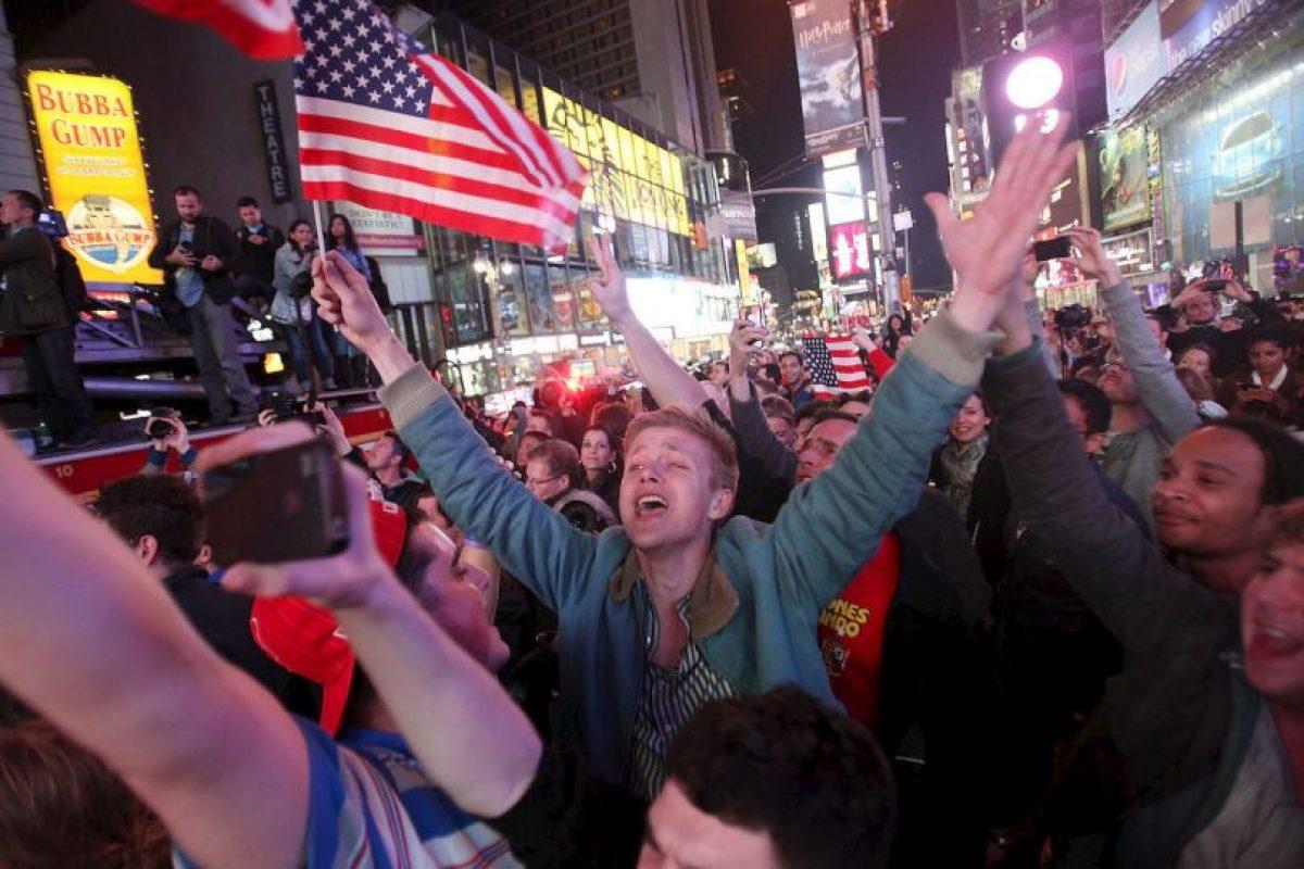 Así reaccionaron en Nueva York. Foto:Getty. Imagen Por: