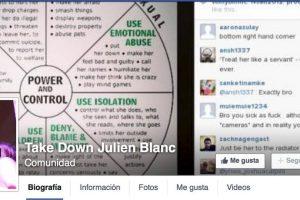 "Se llama ""Take Down Julien Blanc"" Foto:Facebook. Imagen Por:"