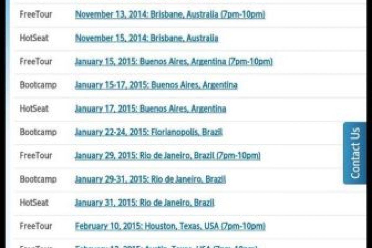 En Canadá ya no puede dar conferencias. Y no quieren que entre a Brasil ni a Reino Unido Foto:Facebook. Imagen Por: