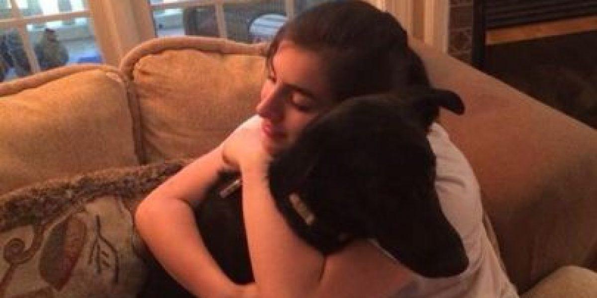 Blue, el cachorro antofagastino que fue adoptado por una estudiante de intercambio