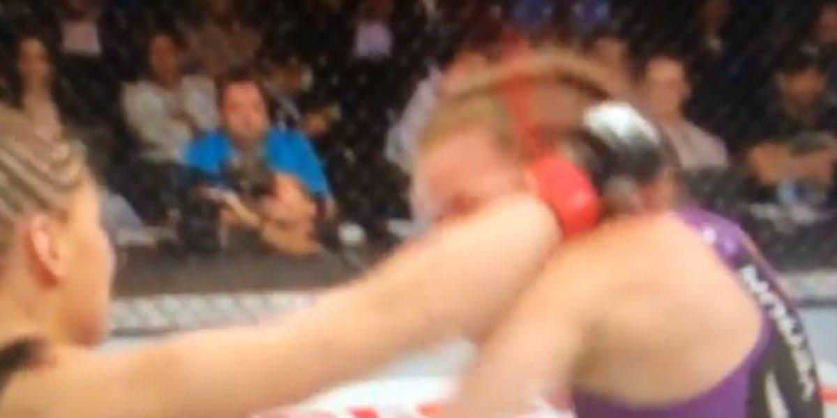 VIDEO: Peleadora de la UFC casi pierde una oreja durante pelea