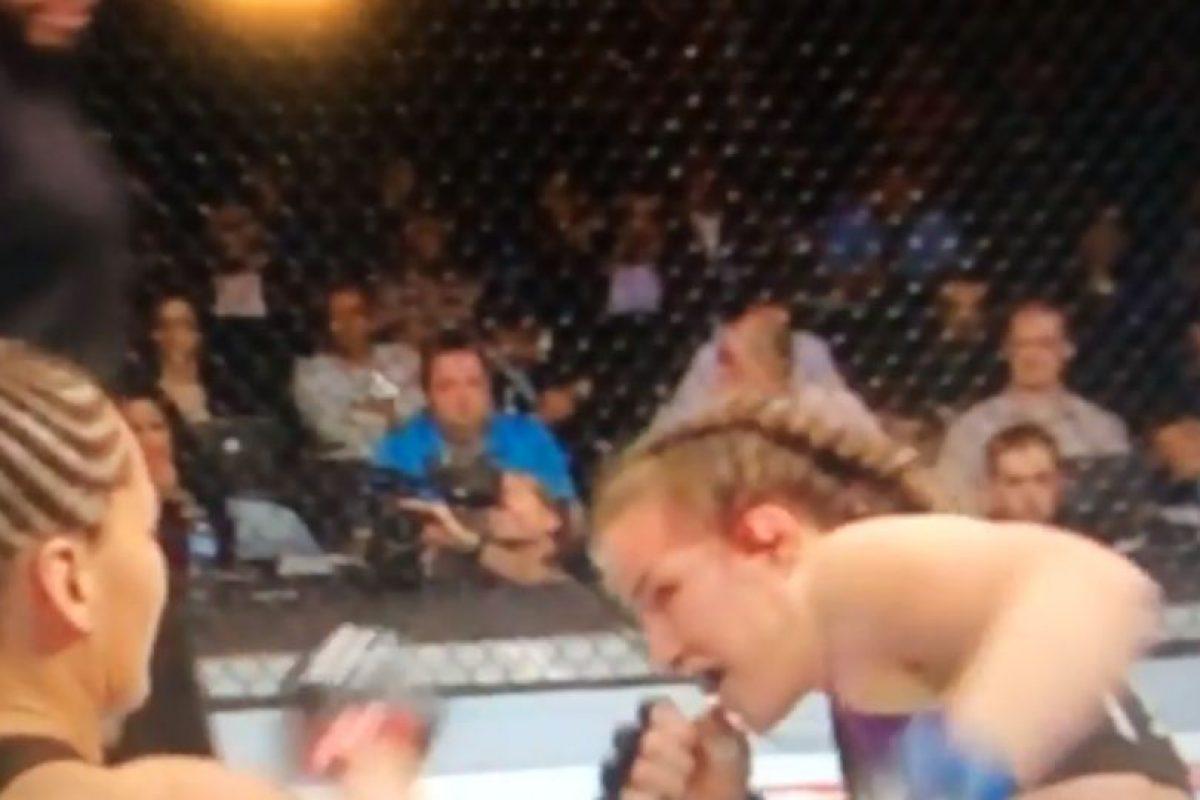 Es la primera pelea que gana Jessca Eye en la UFC Foto:Youtube: Ed Marchese. Imagen Por: