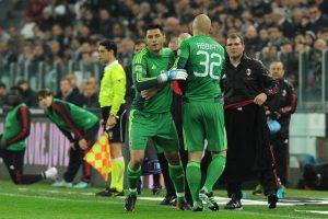 Marco Amelia en un encuentro de la Serie A entrando de cambio por Christian Abbiati. Foto:Getty Images. Imagen Por:
