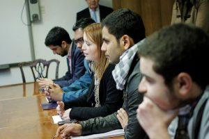 Drigentes de la Organización de Federaciones de Educación Superior Privada (OFESUP) en reunión con el Mineduc para analizar el DFL 2 Foto:Archivo/ Agencia Uno. Imagen Por: