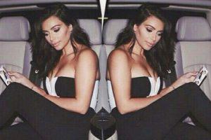 En una limosina promocionando tu nueva colección. Foto:Instagram/Kim Kardashian. Imagen Por: