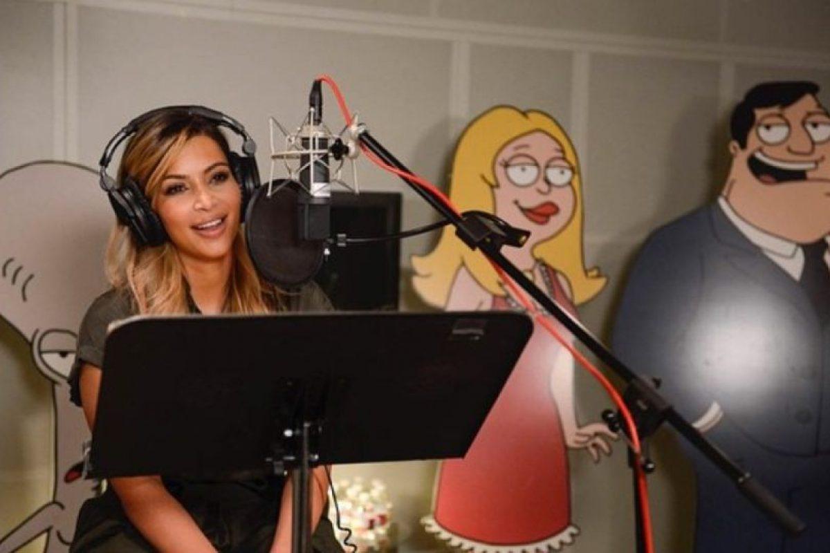 """Hacer la voz de un personaje en """"American Dad"""" Foto:Instagram/Kim Kardashian. Imagen Por:"""
