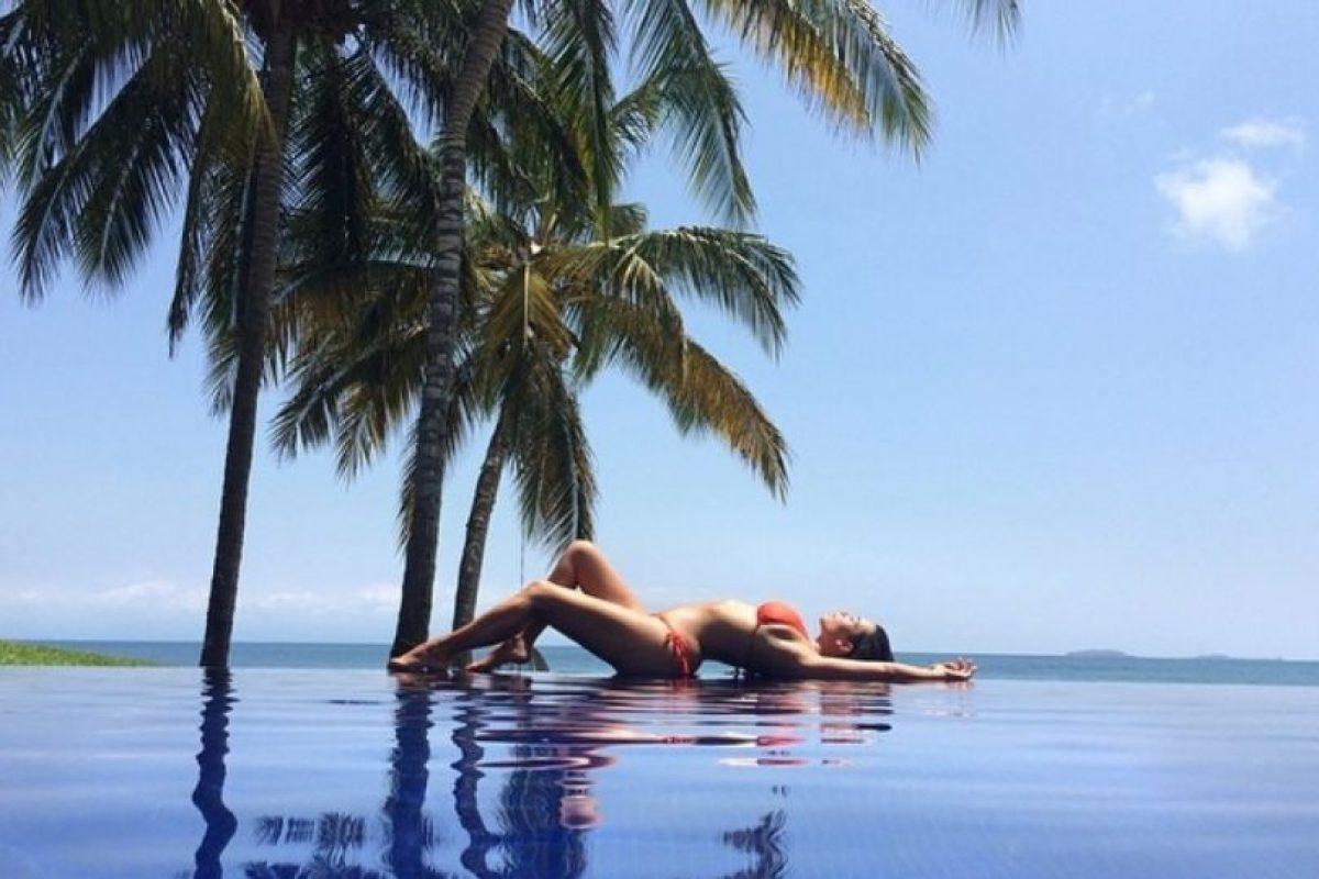 Posar así en Tailandia para Instagram. Foto:Instagram/Kim Kardashian. Imagen Por: