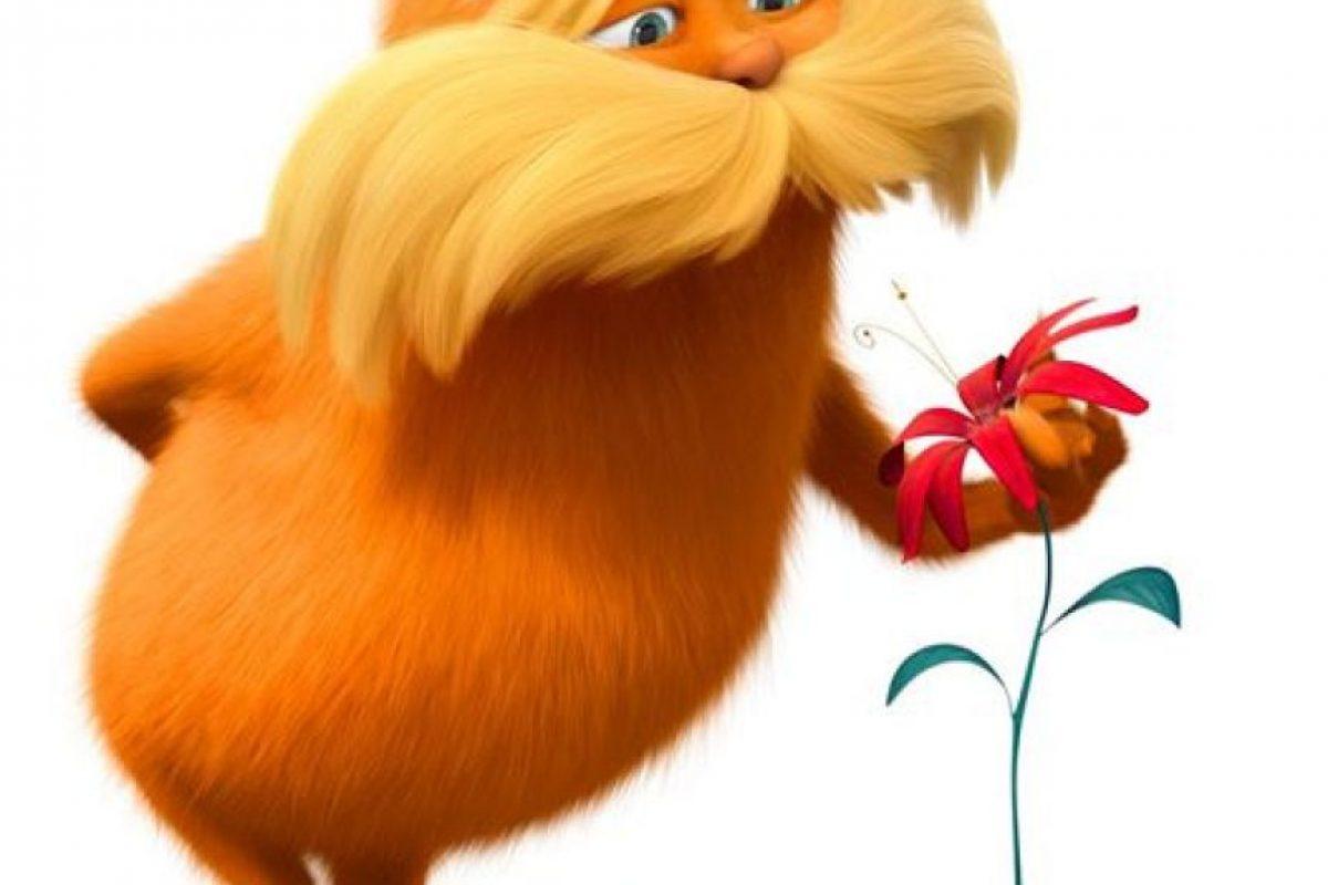 """En 2012 prestó su voz a """"El Lorax"""", una criatura de color naranja creada por Dr. Seuss Foto:Facebook /The Lorax. Imagen Por:"""