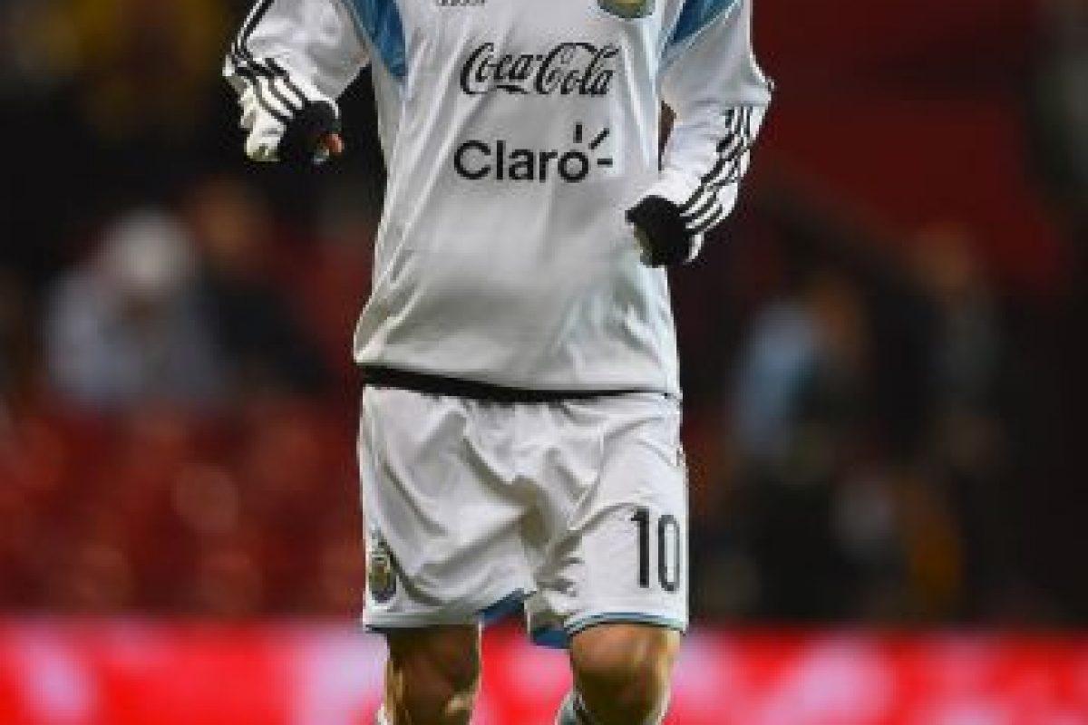 Messi trotando en el Old Trafford de Manchester. Foto:Getty Images. Imagen Por: