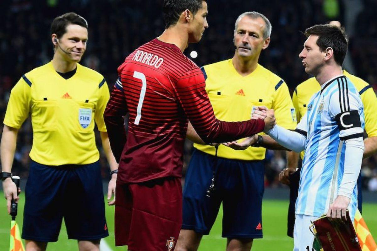 CR7 y Messi después del volado. Foto:Getty Images. Imagen Por:
