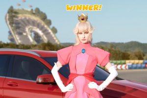 Así sería la Princesa Peach en la vida real. Foto:Mercedes-BenzTV. Imagen Por: