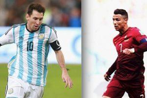 """Leo Messi y Cristiano Ronaldo se enfrentan en el """"Teatro de los sueños"""". Foto:Getty Images. Imagen Por:"""