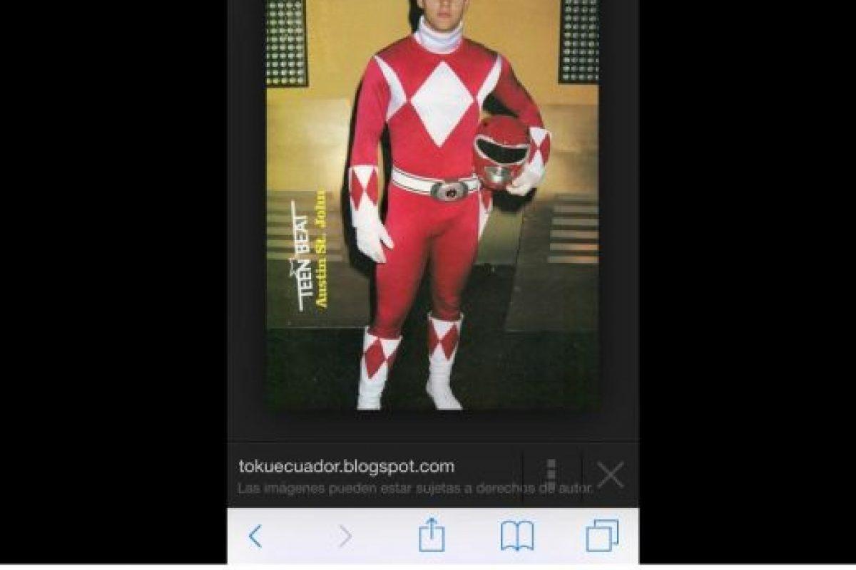 La compararon con el Power Ranger Rojo Foto:Twitter. Imagen Por: