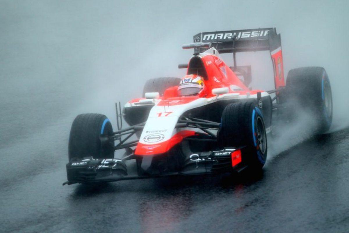 Bianchi en su monoplaza antes de accidentarse. Foto:Getty Images. Imagen Por: