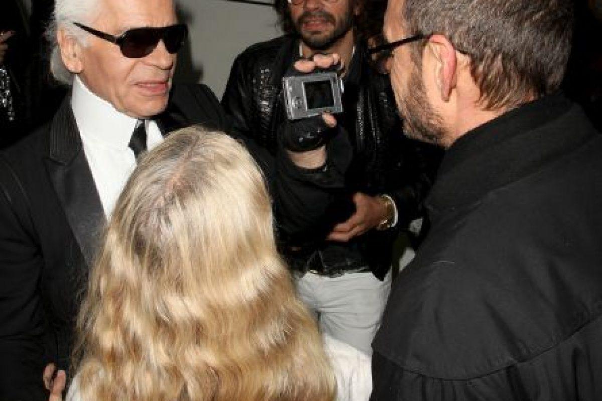Con el diseñador Karl Lagerfeld Foto:Getty Images. Imagen Por:
