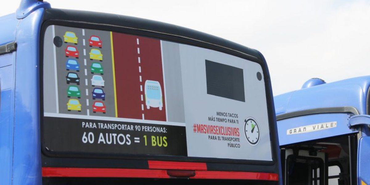 Concesionarios de Transantiago lanzan campaña para exigir más vías exclusivas