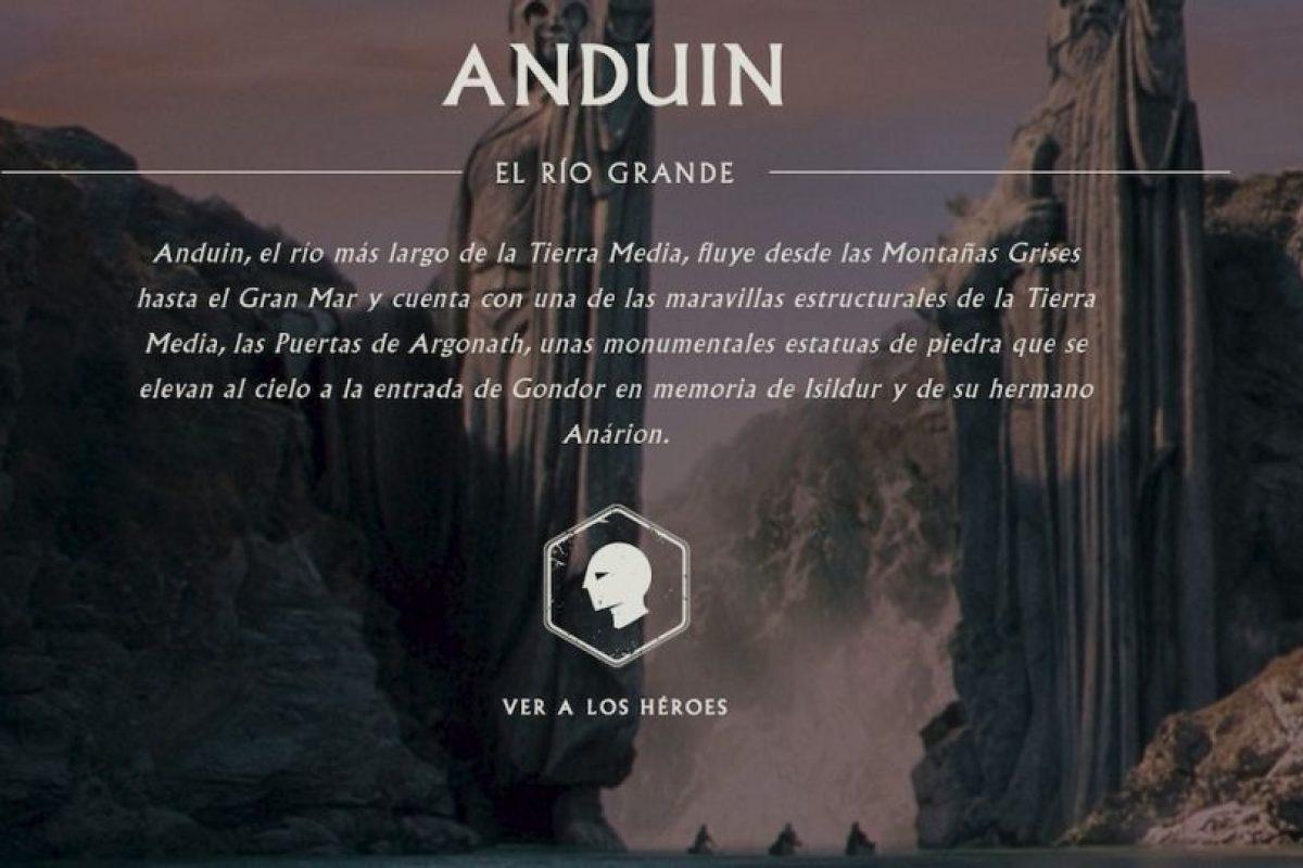Una descripción de Anduin. Foto:thehobbit.com. Imagen Por: