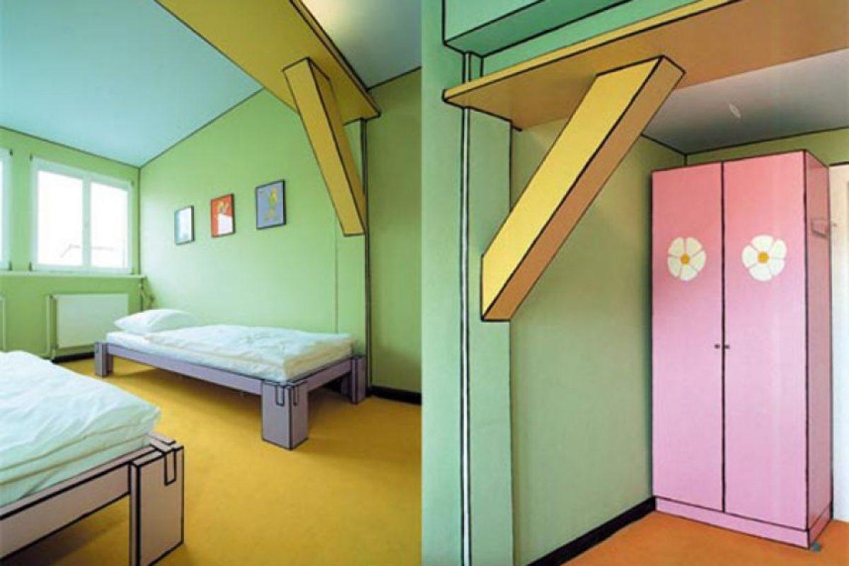 Arte luise Kuntshotel, en Alemania. Basado en un antiguo juego de Sega. Foto:Flavorwire. Imagen Por: