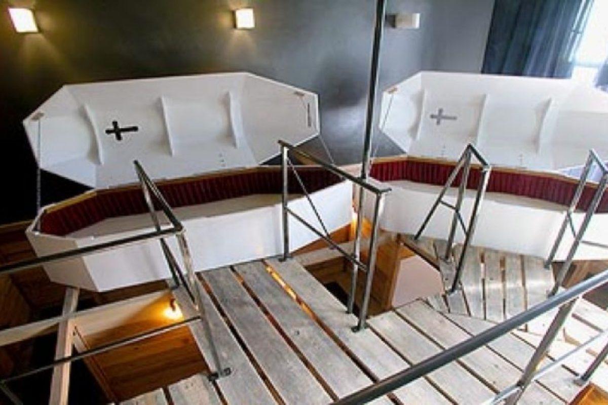 Propeller Island City Lodge, en Berlín (cada habitación tiene un tema distinto, el de esta es: la muerte). Foto:Listverse. Imagen Por: