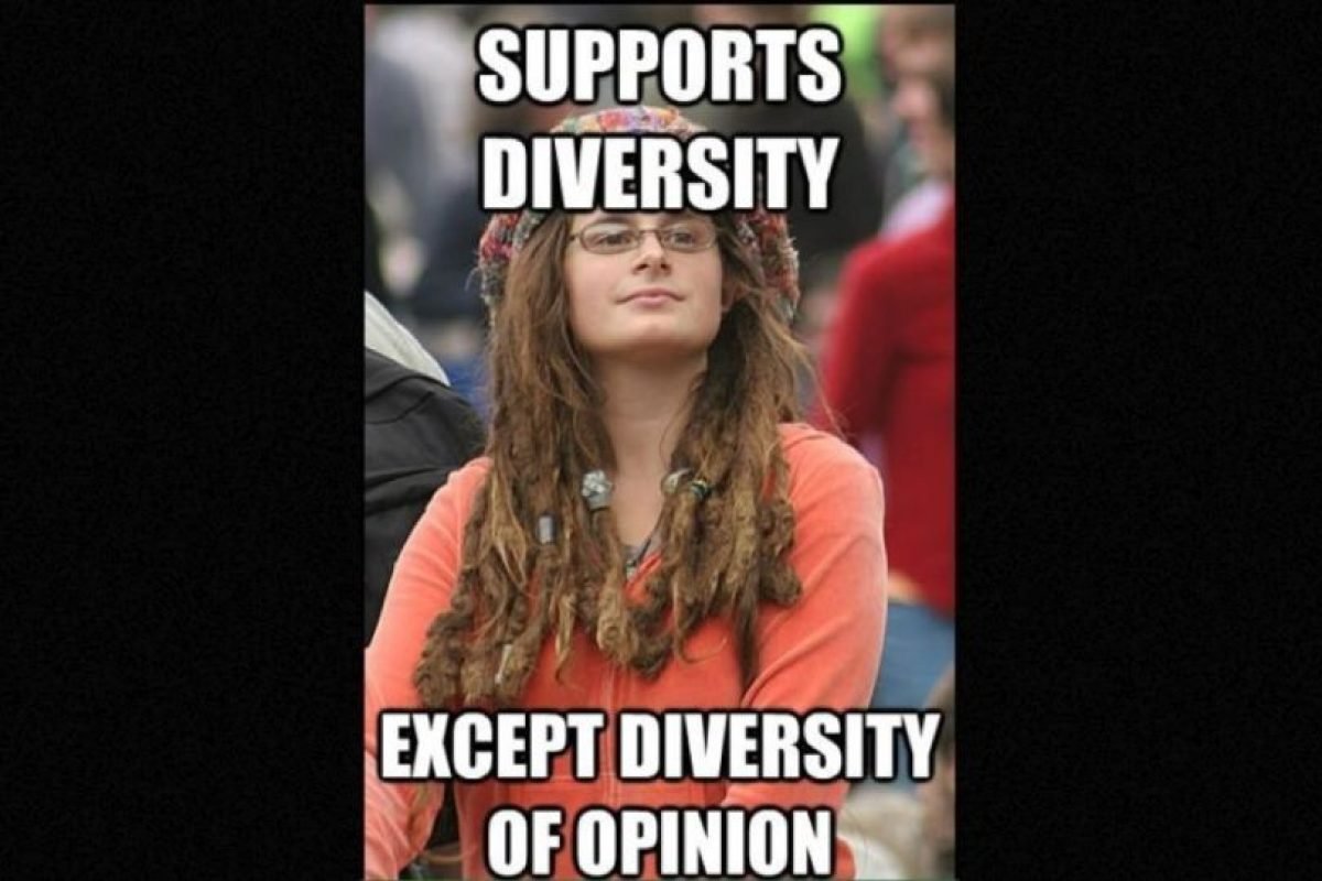 Bad Argument Hippie o College Liberal es un meme que se burla de las posturas hipócritas de los liberales, y también de los fallos de la cultura hippie. Foto:9GAG. Imagen Por: