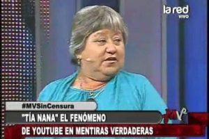 """La """"Tía Nana"""" llegó a la TV. Foto:La Red. Imagen Por:"""