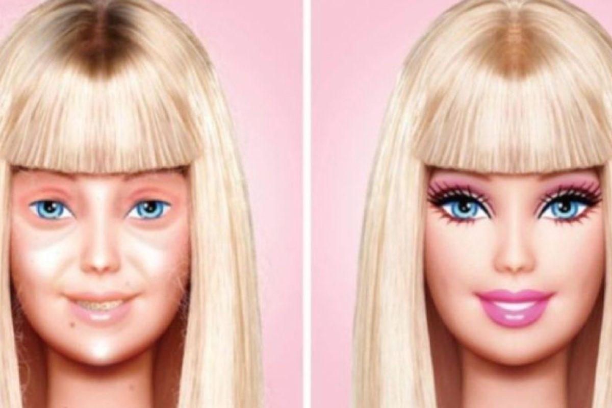 "Eddi Aguirre se hizo famoso por presentar a la famosa ""Barbie"" sin maquillaje Foto:Behance. Imagen Por:"