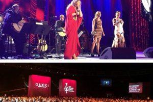 "Lila Downs, Nina Pastori y Soledad Pastorutti cantaron ""La Saeta"" Foto:Facebook/LatinGrammy. Imagen Por:"