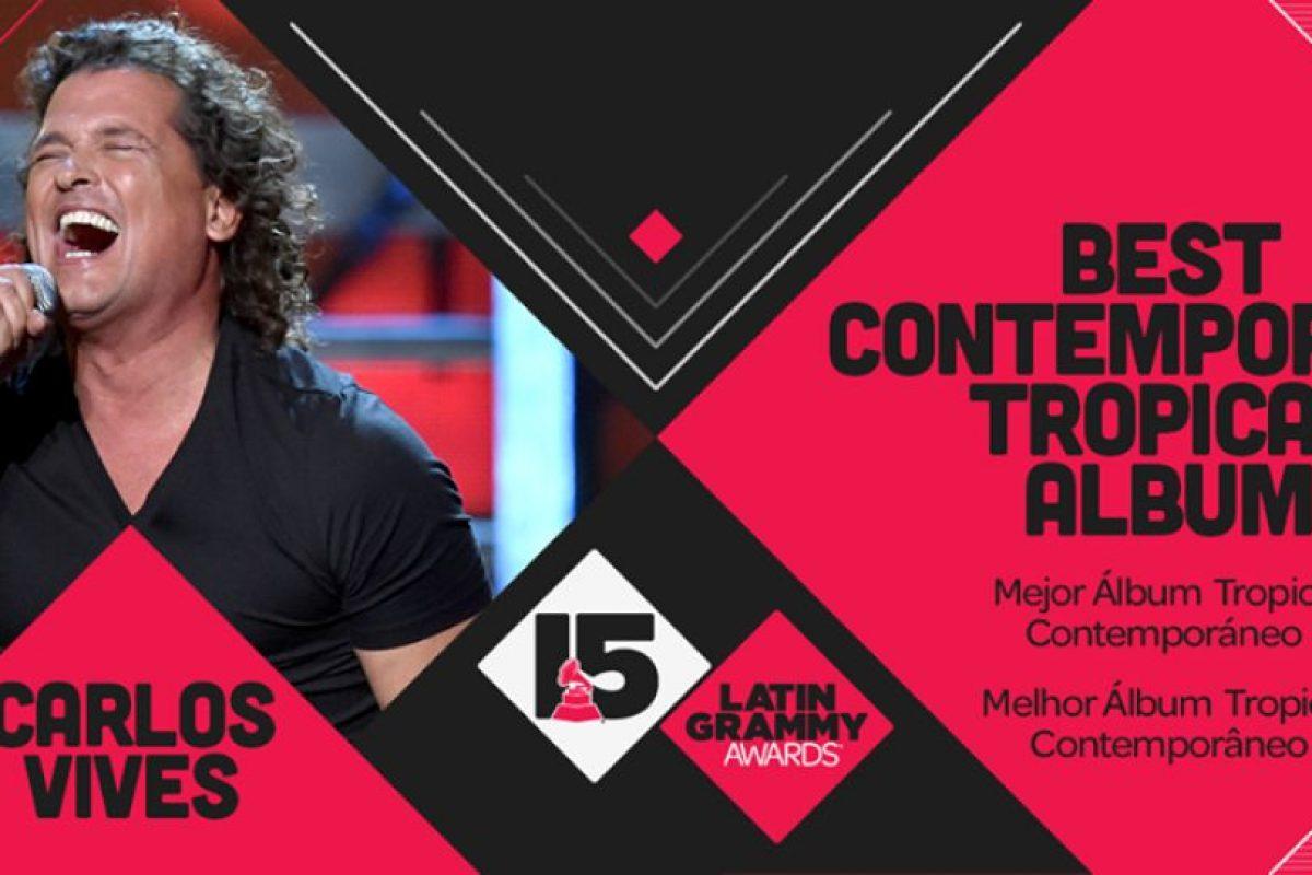"""Carlos Vives ganó el premio a """"Mejor álbum Tropical Contemporáneo por """"Más + Corazón Profundo"""" Foto:Twitter/Latin Grammys. Imagen Por:"""