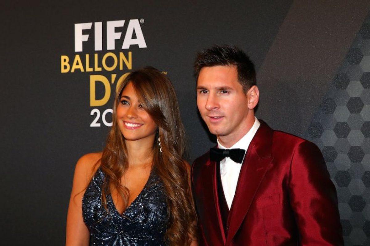 Antonella Roccuzzo y Lionel Messi. Foto:Getty Images. Imagen Por: