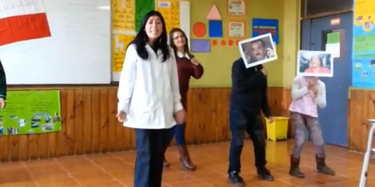Profesoras de Carahue 'se las cantan claras' a Gajardo y Eyzaguirre en particular video