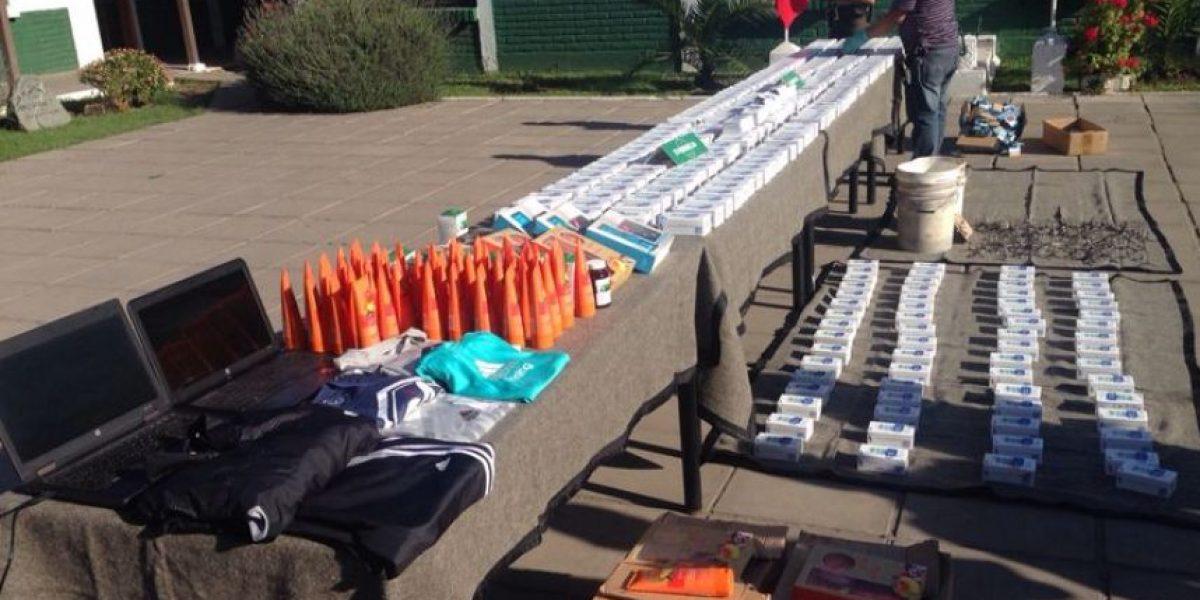 Carabineros recuperó 264 celulares y detuvo a 8 delincuentes tras robo a tienda comercial