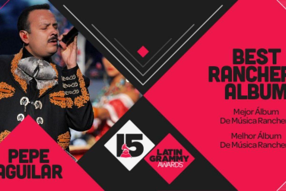 """Pepe Aguilar ganó el premio al """"Mejor álbum ranchero"""" por """"Lástima que sean ajenas"""" Foto:Twitter/Latin Grammys. Imagen Por:"""