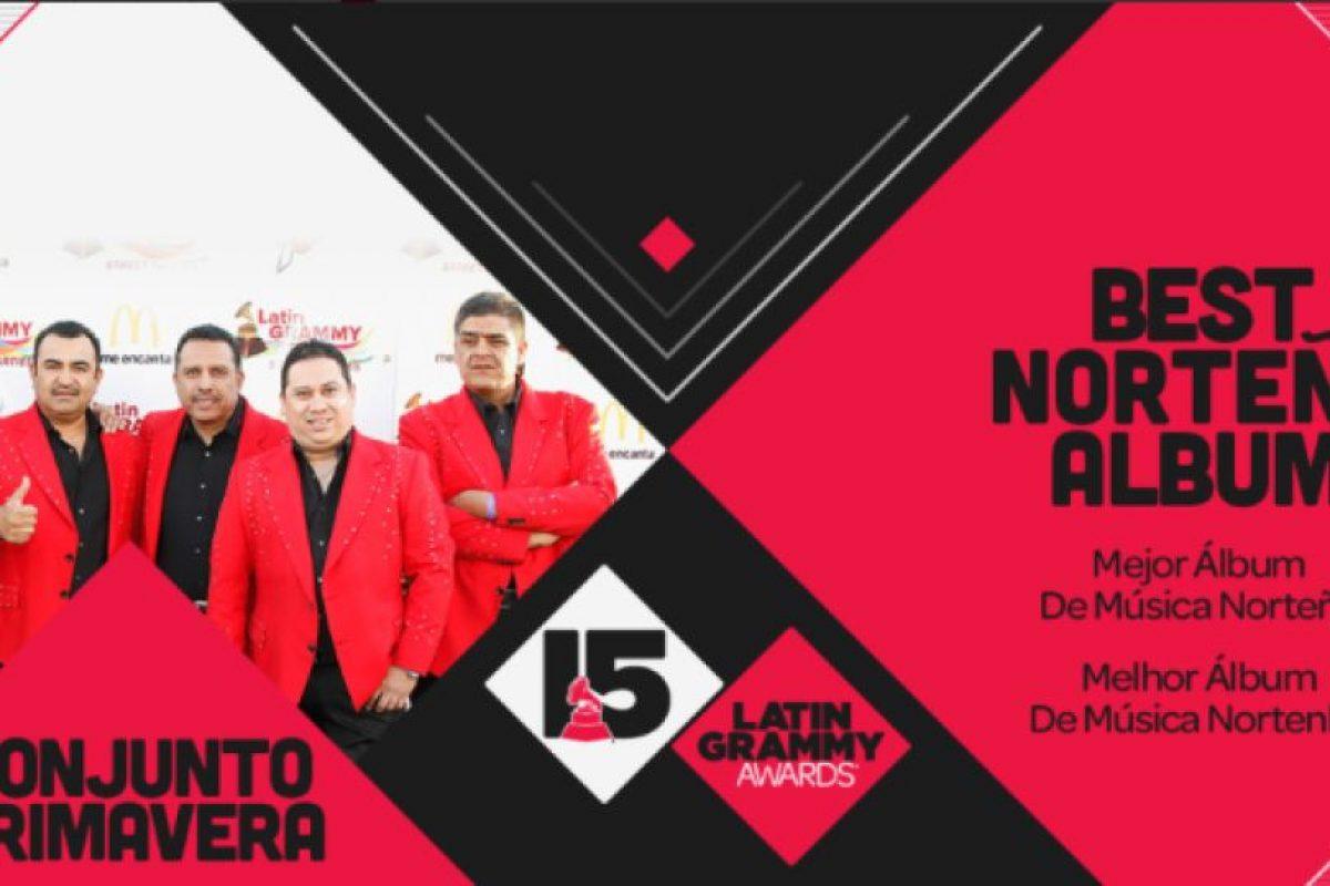 """El """"Mejor álbum de música norteña"""" fue """"Amor amor"""" de Conjunto Primavera. Foto:Twitter/Latin Grammys. Imagen Por:"""