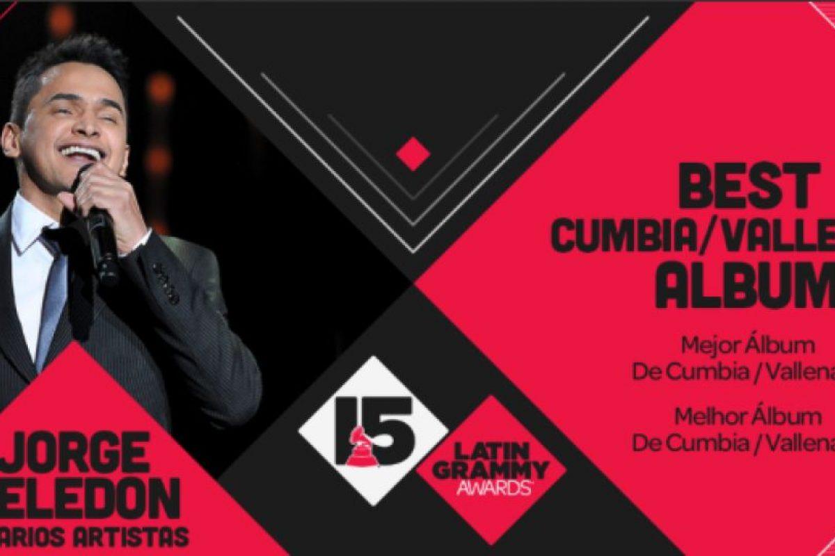 """El """"Mejor álbum de cumbia/vallenato"""" de los Latin Grammy 2014 fue """"Celedón sin fronteras 1"""" de Jorge Celedón. Foto:Twitter/Latin Grammys. Imagen Por:"""
