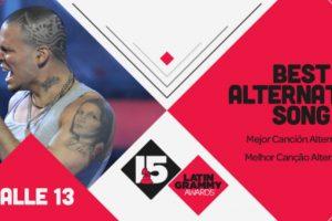 """La """"Mejor canción alternativa"""" fue """"El aguante"""" de Calle 13 Foto:Twitter/Latin Grammys. Imagen Por:"""
