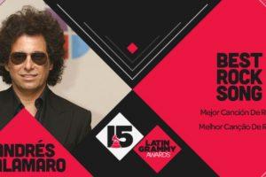 """La """"Mejor canción de rock"""" de los Latin Grammy 2014 fue """"Cuando no estás"""" de Andrés Calamaro Foto:Twitter/Latin Grammys. Imagen Por:"""